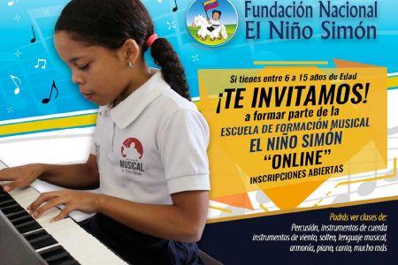 """Arrancó el proceso de inscripción en Escuela de Formación Musical de la Fundación Nacional """"El Niño Simón"""""""