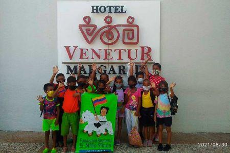 Alegría y recreación para los niños y niñas en el Hotel Venetur de Margarita