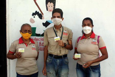 Trabajadores de la Fundación Regional El Niño Simón Guárico beneficiados con jornada de vacunación Contra el Covid 19